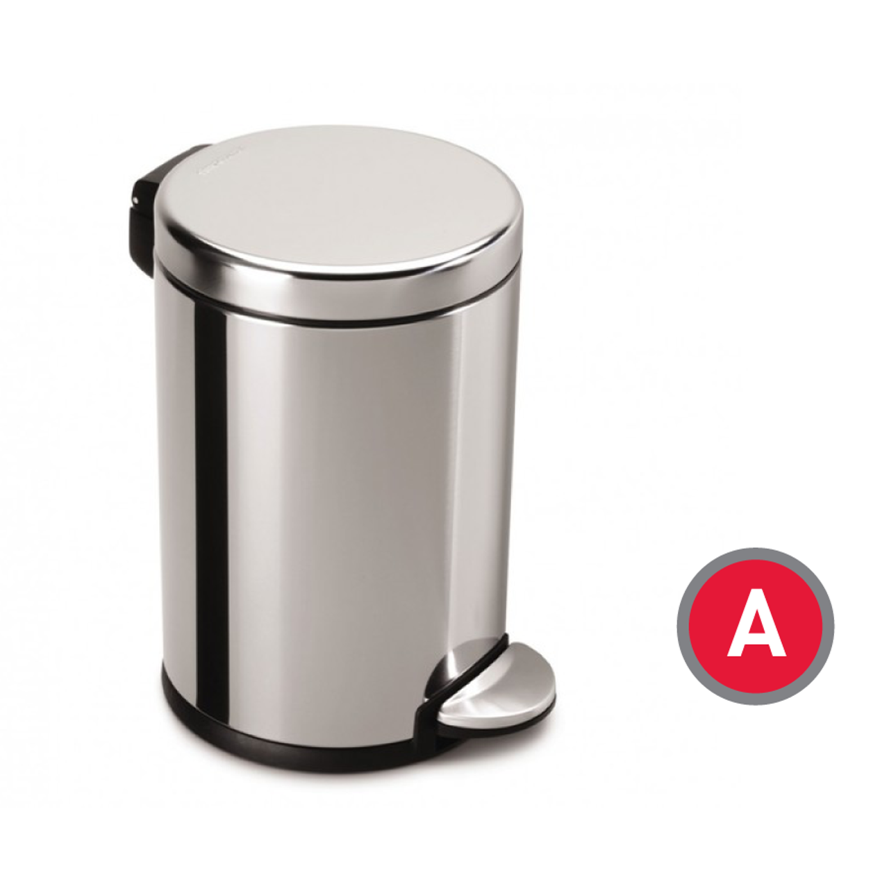 . Simplehuman Mini Round Step Can  Polished Stainless Steel  4 5 liter  CW1851