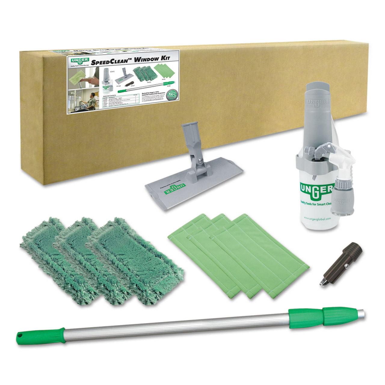 Unger Indoor Window Cleaning Kit, Aluminum, 72