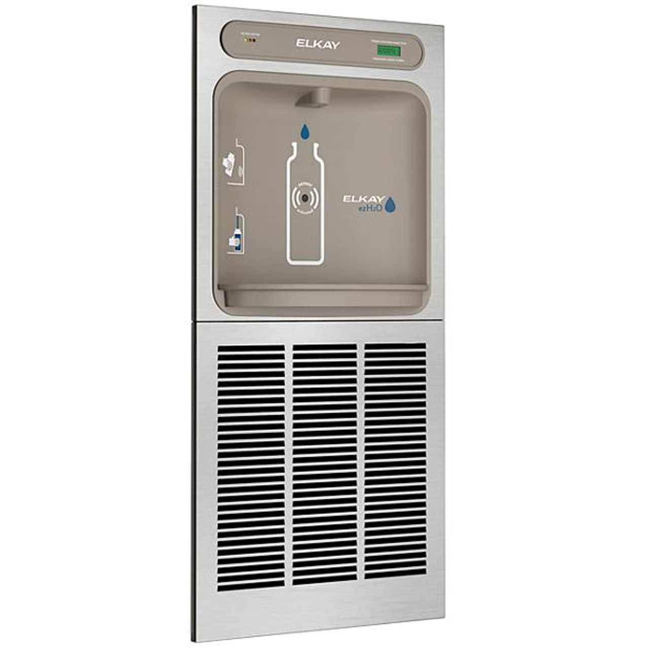 Elkay LZWSM8K In-Wall EZH2O Filtered Refrigerated Bottle Filling Station -  8 GPH, Stainless