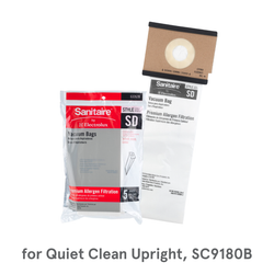 Sanitaire SD Commercial Vacuum Bags, 63262B for Sanitaire Quiet Clean Upright SC9180B