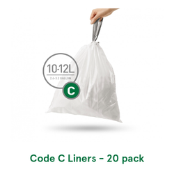 Simplehuman Custom Fit Trash Can Liners, Code C - 60 Pack