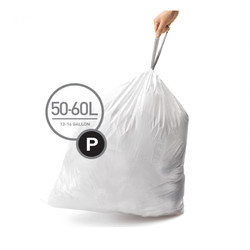 Simplehuman Custom Fit Trash Can Liners, Code P - 60 Pack