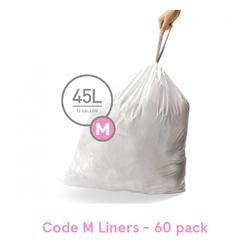 Simplehuman Trash Can Liner, Code M - 60 Pack