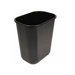 Boardwalk Waste Bucket, Black, 28 Quart