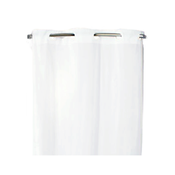 HOOKLESS Shower Curtain White 74 X 42