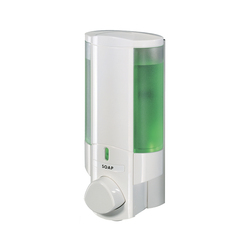AVIVA 1 Chamber Gel Soap Dispenser, White/Translucent, 36150