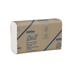 Kimberly-Clark Scott Multifold Towels, White, 37490 (250 towels/pack) (16 packs/case)