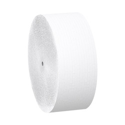 Kimberly-Clark Scott 2-Ply Coreless Jumbo Roll Tissue Jr. Bathroom Tissue, 07006 (1150 ft/roll) (12 rolls/case)