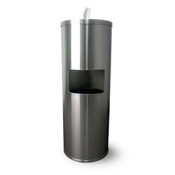 Zogics Stainless Steel Gym Wipes Floor Dispenser with Door, Z650 (Z650) Front