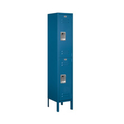 Salsbury Double Tier Standard Metal Locker Blue