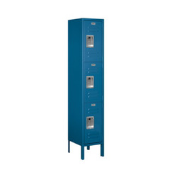 Salsbury Triple Tier Standard Metal Locker Blue
