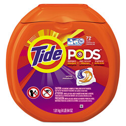 Laundry detergent pods.