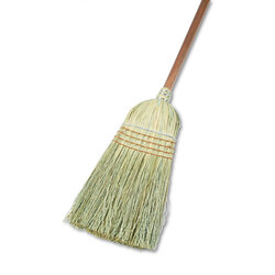 Warehouse broom for heavy-duty sweeping.