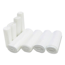 High-density commercial can liners with star-sealed bottom.