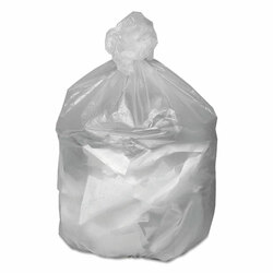 High Density Waste Can Liners, 31-33gal, 9mic, 33 x 39, Natural, 500/Carton (WBIGNT3340)