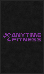 M+A Matting Anytime Fitness All Purple Logo Classic Impressions, Vertical Interior Wiper Mat, 70 (70-ATF-5)