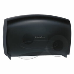 Kimberly-Clark Professional Coreless JRT Twin Bathroom Tissue Dispenser, Smoke, 09551