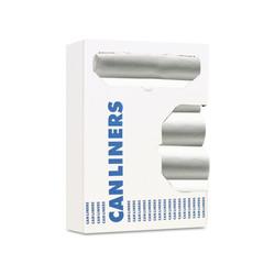 Boardwalk High-Density Can Liner, 60gal, 38 x 58, 14mic, Natural, 25 Bags/Roll, 8 Rolls/CT (BWK386016)
