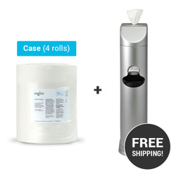 Value Wipes (4 rolls/case) + Cleaning Station