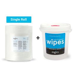 Value Wipes (single roll) + Bucket Dispenser (Z1500B)