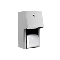 A&J Washroom Dual Toilet Paper Dispenser, Enclosed (U840)