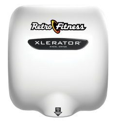 XLERATOR Hand Dryer, Retro Fitness on White (XL-SI-W-Retro)