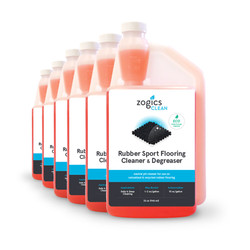 Zogics Rubber Sport Flooring Cleaner & Degreaser, 32 oz (6 units/case (CLNRFC32CN-6)