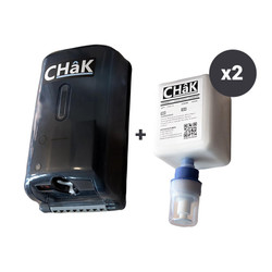 Chak Black Automatic Liquid Chalk Dispenser + 2 Liquid Chalk Refills (1000 mL)