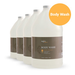 Zogics Organics Body Wash, Honey Coconut, Case of 4 gallons