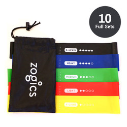 Zogics Resistance Loop Bands, Case of 10 Full Sets