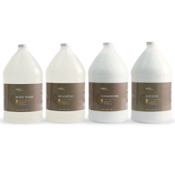 Zogics Organics Bath & Body Care Gallon Sampler Case, Honey Coconut (4 gallons/case) (ZogicsOrganicsBundle-BW-S-C-L)