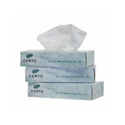 Certo Facial Tissue, FT100 (100 sheets/box) (30 boxes/case)