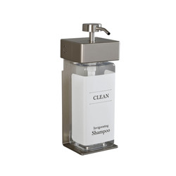 SOLera 1 Chamber Liquid Dispenser, 44 oz, Satin Silver/Translucent - Shampoo
