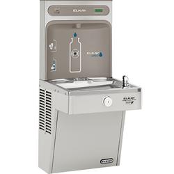 Elkay EZH2O Bottle Filling Station & Single High Efficiency Vandal-Resistant Cooler, Filtered 8 GPH, Stainless Steel