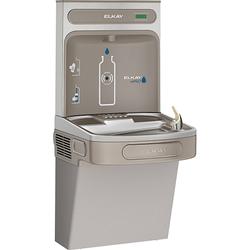 Elkay EZH2O Bottle Filling Station & Single High Efficiency ADA Compliant Cooler, Filtered 8 GPH, Light Grey, EZS8WSLK
