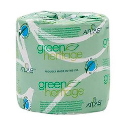 Atlas Green Heritage Toilet Tissue 2-Ply 500', Atlas 275 (96 rolls/case)