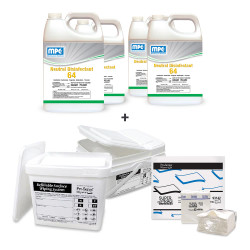 ND64 Concentrated Commercial Surface Disinfectant + Wipe Towels + Wipe Bucket Cleaning System (ZCS-MC120575-4)