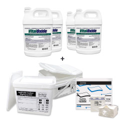 Vital Oxide Ready-to-Use Commercial Surface Disinfectant + Wipe Towels + Wipe Bucket Cleaning System