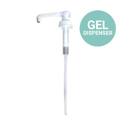 Pump for Gel Hand Sanitizers & Disinfectants, White, 901