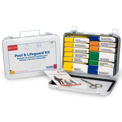 Pool & Lifeguard Emergency First Aid Kit in Metal Case (280-U/FAO)