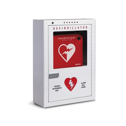 Philips Premium Surface Mounted AED Cabinet w/Alarm (PFE7024D2)