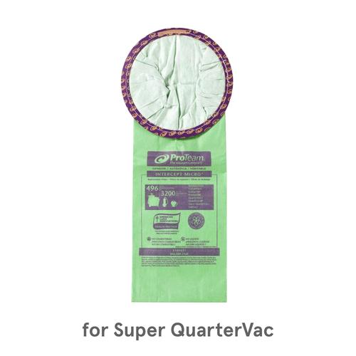 ProTeam Intercept Micro Filters, 100431 (10 Bags) for Super QuarterVac