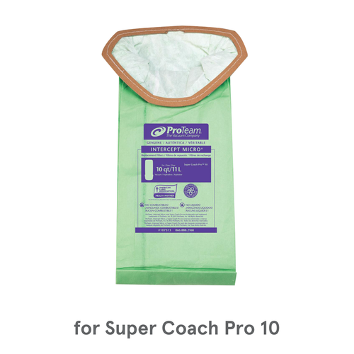 ProTeam Intercept Micro Filters, 107313 (10 Bags) for Super Coach Pro 10