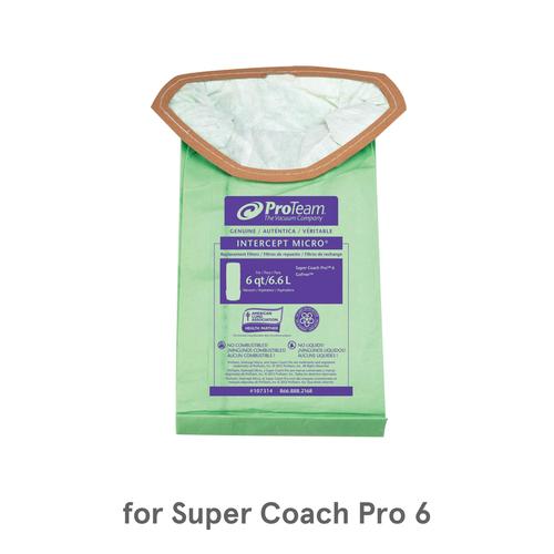 ProTeam Intercept Micro Filters, 107314 (10 Bags) for Super Coach Pro 6