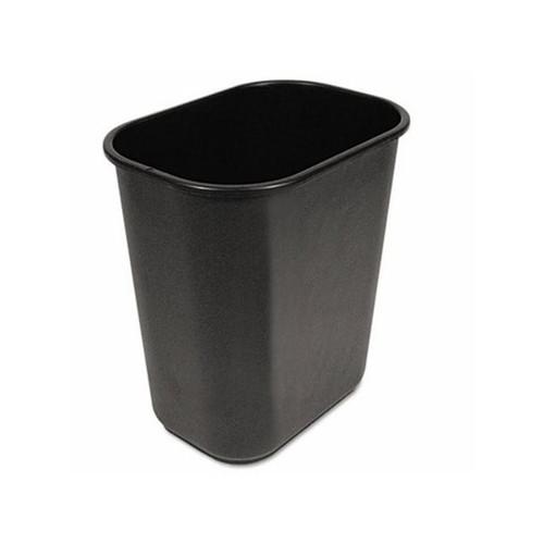 Boardwalk Waste Bucket, Black, 28 Quart