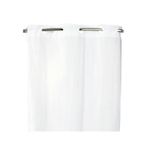 "HOOKLESS Shower Curtain, White, 74"" x 42"""