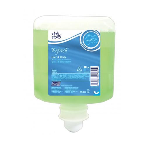 Deb Refresh Hair & Body Wash, 2 Liter (4 refills/case)