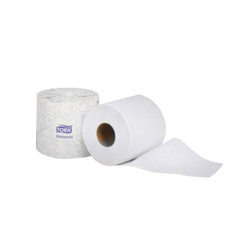 Tork Universal Bath Tissue Roll, 1-Ply, White (1000 feet/roll) (96 rolls/case) (Tork TS1636S)