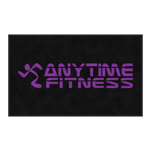 The Andersen Company Anytime Fitness Logo Classic Impressions, Interior Wiper Mat, All Purple Logo, 70