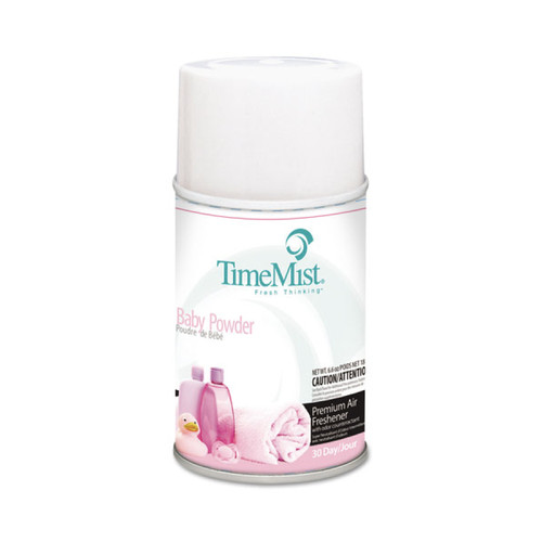 TimeMist Metered Air Freshener Dispenser Refill, Baby Powder Fragrance, 6.6 oz (12 refills/case)